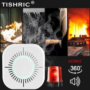 moke Detector TISHRIC Smoke Detector Wireless 433mhz Fire Alarm Sensor Device support SONOFF Bridge Smart Home Automation Security Protec...