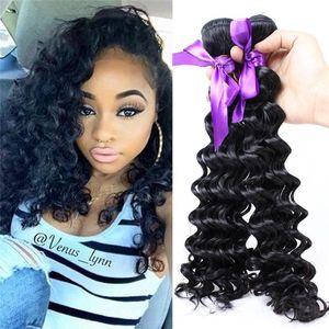 Zhifan Deep Wave Bundles Closure Hair Bundles Hair Bundles Online Wholesale Synthetic Cheap Hairs Extensions Pieces