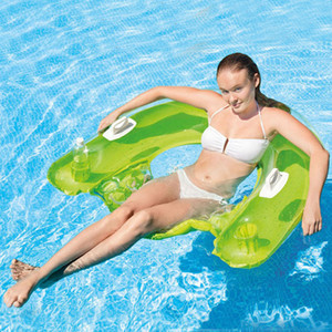 DMAR 152cm Inflatable Floating Chair for Adults Giant Pool Float Toys Swimming Rings Pool Seats Air Inflation Mattress Random Color