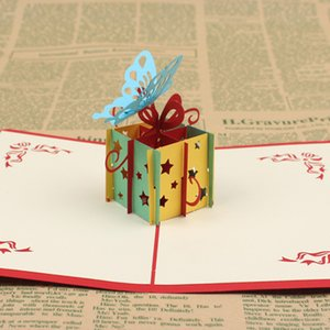 3D With Envelope Greeting Card DIY Anniversary Postcards Blessing Cake Party Supplies Gift Handmade Up Paper Happy Birthday