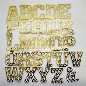 Hauptlieferungs-Wand-Aufkleber Acryl Holz Kunststoff 3D Kreativität Englisch Brief Spiegel Paste Dekoration Ornament neue Ankunfts-4 5dhH1