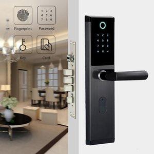 Blocco delle impronte digitali YOHEEN intelligente biometrico con password digitale RFID Card Smart Key elettronico Fingerprint Lock Door T191029