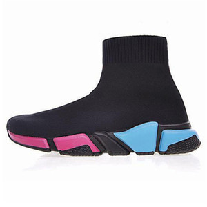 designer sock shoes Graffiti speed trainer fashion sneakers triple black white beige volt pink Glitter women mens platform casual sport shoe