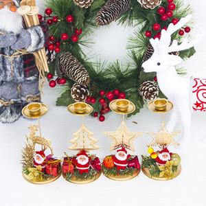 Décorations intérieur fer forgé Creative Noël Candlestick cadeaux de fête Bougies fond de bureau Décoration Bougeoir EEA813A