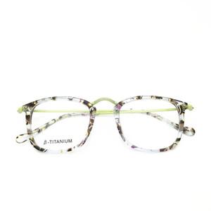 Belight Couleur Vert optique Femmes Acétate Prescription en verre coloré titane lunettes lunettes optiques cadre Lunettes