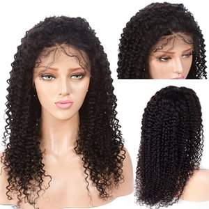 Curly Lace Front Human Hair Wigs Pre Plucked Hairline Brazilian Remy Hair Full Lace Wig With Baby Hair Natural Color 8''-26''