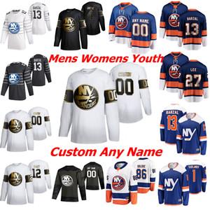 New York Islanders 4 Andy Greene Eishockey Trikots Frauen 44 Jean-Gabriel Pageau 13 Mathew Barzal Matt Martin Andy Greene Individuelle genähtes