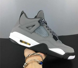 Authentic Version 4 Man Designer Basketball Schuhe Cool Grey Dark Charcoal Varsity Maize Beste Qualität
