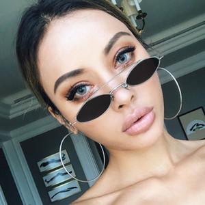 Novo polígono Sunglasses Mulheres Homens Marca Designer Vintage Sunglasses Oval Pequeno Praça Polígono Sunglasses Moda Eyewear