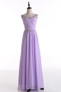 Beaded crystal Bridesmaid Dresses with Pleats 2019 Ivory Lavender Purple Blush Pink Yellow Long Prom Gowns