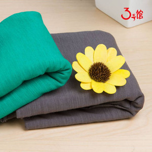 KK302622 High quality 32s slub combed cotton fabric for sewing women dress 50x170cm piece