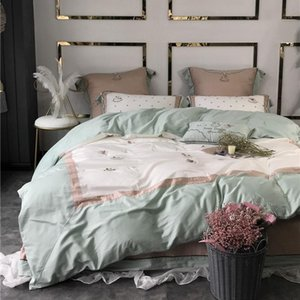 34Pony / Starry sky / ananas lady التطريز 60 Long Staille Cotton Satin Bed Bed Duvet Cover Bed Linen bed sheet