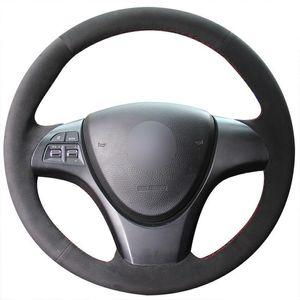 For Suzuki kizashi 2010 Car DIY Steering Wheel Cover Hand-stitch on Wrap Cover