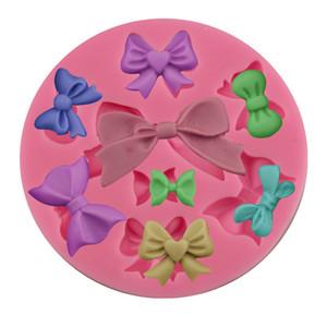DIY pajarita molde de silicona pajarita forma molde de silicona Bowknot Cake Fondant herramientas para hornear de grado alimenticio DIY pajarita accesorios de cocina