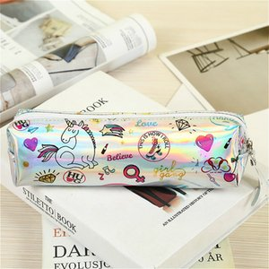 Halloween Pencil Case Iridescent Laser cute Beautiful unicorn pattern School Supplies Stationery Christmas Gift