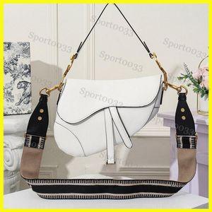 Women Saddle bag, famous designer womens handbag new letter shoulder bag high quality genuine leather Messenger bag saddle bag