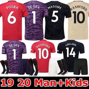 19 20 mujeres y niños kit de Manchester Lukaku casa camiseta de fútbol 2019 2020 El hombre Pogba Alexis Rashford LINGARD MAGUIRE unida camiseta de fútbol