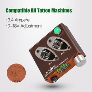 Mini Tattoo Power Supply Dragonhawk Newest Dual Power Supply 2 Clip Cord Jack Multiple Working Modes Tattoo Supply