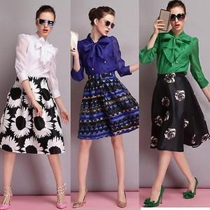2016 de Moda de Nova Europa Mulheres Big Bow Sólidos Chiffon blusa Casual shirt Tops