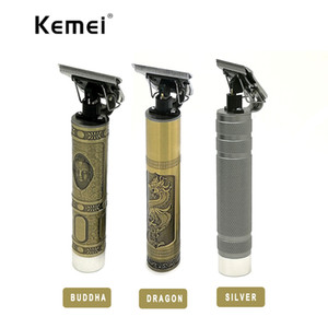 KM-1974 Professional Hair Clipper Barber Carving Crafs Buddha Retro Cordless Trimmer Homens T-shape máquina de corte de cabelo