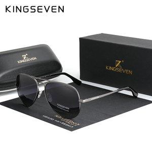 KINGSEVEN Marka Erkekler Alüminyum Güneş 2020 Yeni Polarize UV400 Ayna Erkek Güneş Gözlükleri Kadınlar İçin Erkekler 7735