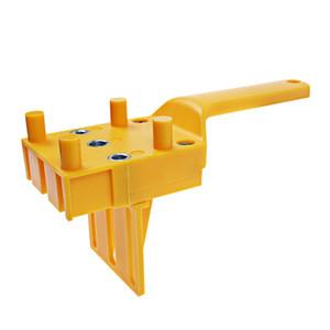 O gabarito do passador do Woodworking cabe 6 8 10mm broca de perfuração da madeira O furo de passador da folheação fura o guia Handheld da broca com luva do metal