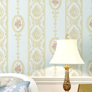 10m * 0.53m 3D Romantische rosa warme Vliestapete neue Hauptdekoration Hauptmaterial Garten Schlafzimmer Wohnzimmer Wanddekor geprägt