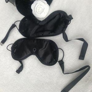 Máscara de ojo con los ojos vendados del estilo del regalo C de la moda VIP con C con la bolsa para el polvo plástica