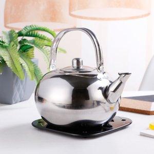 Hôtel Petit Teapot en acier inoxydable Teapot Restaurant Hôtel Bouilloire jaune pichet de vin Bouilloire avec filtre exquis Pot en verre