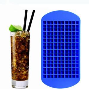 160 cuadrículas bricolaje pequeña caja de hielo del molde del cubo de hielo bandeja del cubo de silicona caliente de frutas Cubo café Bar Ice Cream Herramientas T2I5161-1