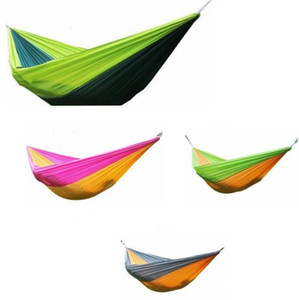 Hammock Parachute Double Lightweight Nylon Hammock Adult Camping Outdoor Travel Hammocks Survival Garden Swing Hunting Sleeping Bed LSK74