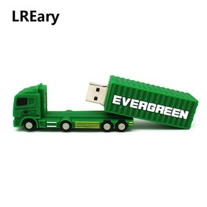 Cartoon grüner LKW Modell Memory Stick Feder-Antrieb LKW / Güterzug USB-Flash-Laufwerk PenDrive 512MB 4GB 8GB 16GB 32G 64GB