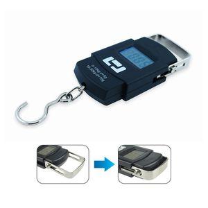 50kg / 10g Balança Digital Outdoor balanças portáteis pesca LCD exibir ferramentas Balança Eletrônica bagagem de mão de suspensão Digital Scale VT1709
