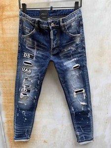 DSENQI NEW Men Jeans Zerrissene Jeans-Hosen für Biker Outwear Man Pants 968