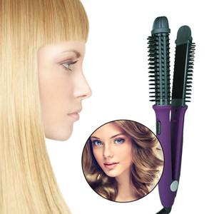 Eléctrico plancha de pelo de doble voltaje 110V-240V volumen del cabello de cabello portátil rizador de peine 3 en hierro plano 1 de calentamiento PTC con dientes de peine