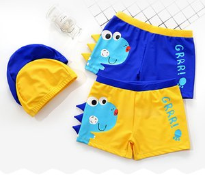 1-10T Dinosaur Boy's Swimsuit With Cap Baby Swimwear Swimming Shorts Child Bathing Suit Swimwear Swimming Pants Kids Swim Trunk