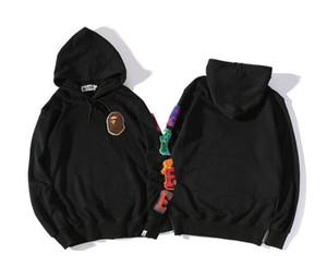 Оптовая прилив бренд обезьяна акула с капюшоном пары набор букв вышивка свободные спортивный свитер мужчин и женщин Повседневная куртка
