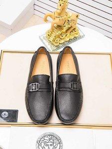 Nouveau parti de mariage à fond plat des hommes de mode robe de chaussures en cuir Doug mode rivage causales