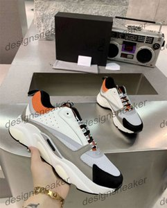 Männer Leinwand und Kalbsleder Europa Fashion Sneaker Sneaker Fashion New Sneakers B22 Trainer Technische Knit-Schuhe
