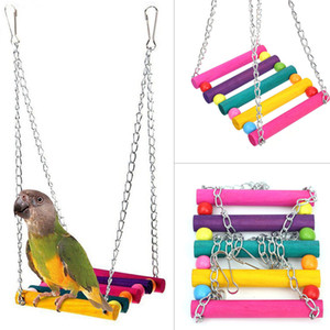 Bird Swing Toys,Parakeet Perches Hanging Cage Toy for Conures Parrots Parakeets Cockatiels Macaws Finches (colorful)
