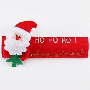 Maniglia Decorazione natalizia Cucina frigorifero Forno a microonde Door Knob Cloth Covers Snowman Design Pattern