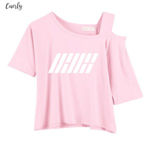 Short Sleeve Female T Shirt Wanna One Stray Kids Ikon Ateez T Shirt For Women Drop Shipping