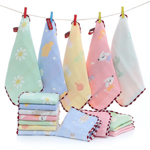 25*25 Baby Towel Squares Handkerchief Hand Bath Feeding Gauze Muslin Baby Cotton Towel Square Towels for Boys Girls Wash Cloth