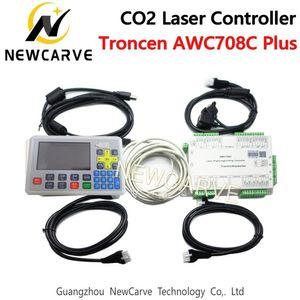 Trocen AWC708C Plus CO2 Лазерный DSP Контроллер Система Поддержка 6 Оси И Num Замок Для Лазерной Резки NEWCARVE