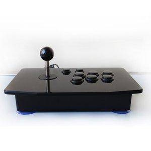 아크릴 제로 지연 아케이드 파이팅 스틱 USB 유선 컴퓨터 게임 조이스틱 게임 로커 컨트롤러 PC 바탕 화면을위한 8 개 버튼