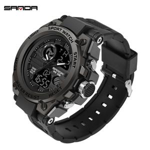 2019 Top Brand Luxury Men Military Relojes G Style Sports Men Clock Man 3ATM Shock Resist Reloj de pulsera Negro relogio masculino J190614