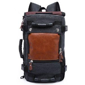 Mode unisexe Voyage Sac fourre-vol approuvé Weekender Duffle Sac à dos en toile Rucksack sac d'école adapter 16 pouces sac d'ordinateur portable