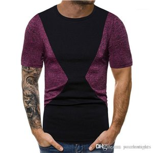 Mens Designer Tshirt Casual Summer Breathable Mens Tops Cotton Mens Clothing Panelled Crew Neck