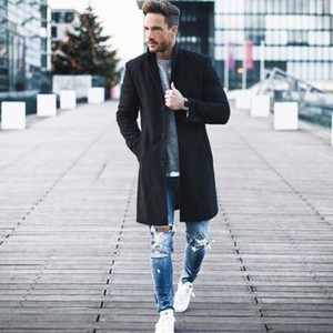 2019 d'hiver les plus récents Vestes d'homme Mode Thicken Polaires Laine Clothestrench à chaud manteau de Streetwear 3XL