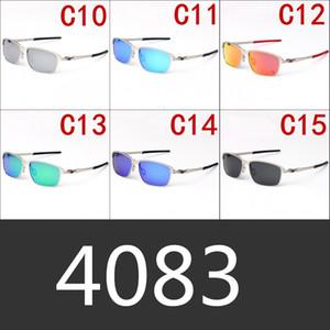 Stanniol Außenreit polarisierte Sonnenbrille Männer und Frauen Metallrahmen Fahren Reisen Fahren Sonnenbrillen New 4083 Full Package